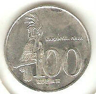 Offer>Indonesia 2003 Kakaktua Raja 100 rupiah coin very nice!