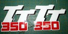 Logo convogliatori Yamaha TT 350  98 cristal - adesivi/adhesives/stickers/decal