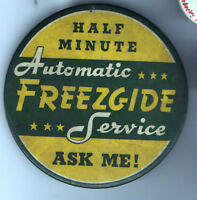 Vintage Automatic FREEZGIDE Service pinback button pin