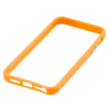 Bumper Case For Iphone 5 with Metal Buttons Hard Plastic Rubber Rim 25+ Colours