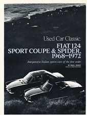 1968 and 1972 Fiat 124 Coupe Spider Original Car Review Print Article J537