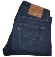 Mens LEVI'S 527 Dark Blue (0532) Slim Bootcut Stretch Denim Jeans W30 L34