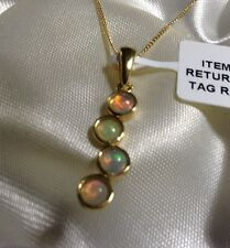 """3/4 Ct, Ethiopian Welo, Opal Pendant, 18"""", 14K Gold Overlay Sterling Silver"""