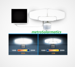 Sunforce Solar Motion Security Light 2000 Lumens LED Triple Head #1600329 NEW
