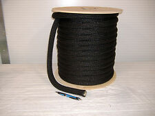 "1"" x 150 feet DOUBLE BRAID NYLON ROPE dock anchor mooring pull lines Black"