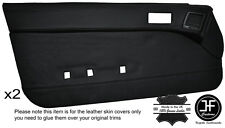 BLACK STITCH 2X FULL DOOR CARD LEATHER COVER FITS MAZDA RX7 FC 1986-1988