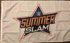 Summer Slam Flag 3x5 WWF Wrestling WCW WWE White Banner Man Cave