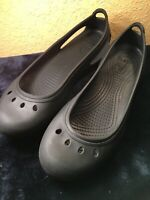 Women's Crocs Lock Slip On Black Sandals Size 9