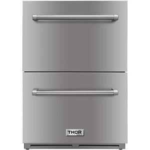 Thor Kitchen THTRF2401U 5.3cu.ft Indoor/Outdoor Undercounter Drawer Refrigerator