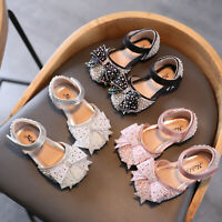 Toddler Infant Kids Baby Girls' Princess Sandals Bowknot Crystal Sweet Shoes