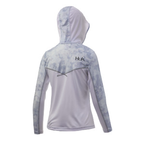 HUK Women's Icon Camo Hoodie LS Performance Shirt--Pick Color/Size-Free Ship