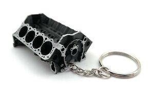 Small Block Chevy V8 Keychain - Model Chevrolet Engine Block- GM Engine Keyring