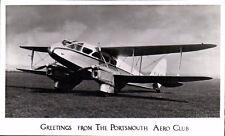 Portsmouth Aero Club Greetings. Aeroplane.