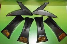star wars action fleet 6 pc standard display base stand lot - with gold logo