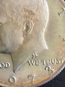 1973 Kennedy error coin Half Dollar,grade Yourself As pictured