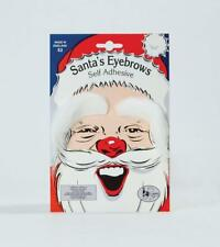 ** WHITE FATHER CHRISTMAS EYEBROWS CHILDRENS ADULT FANCY DRESS NEW ** SANTA BROW