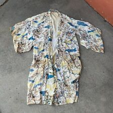 Vintage 30s 40s 50s 60s Chinese Japanese Silk Robe Kimono Needs Cleaning