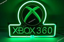 NEW RARE X BOX 360 GAMES 3D carved Beer Bar Real Glass Neon Light Sign Free Ship