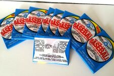 NINE (9) 1989 O-Pee-Chee BASEBALL WAX PACK'S. Bubble Gum & Cards