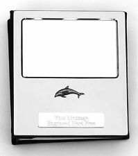 More details for dolphin s design silver personalised photo album free engraving 100 photos 107