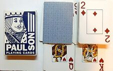 "LAS VEGAS, NEVADA PLASTIC COATED ""PAUL SON"" LINEN FINISH 52 PLAYING CARDS - p01!"