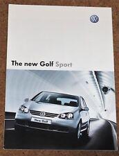 2004 VW GOLF SPORT Mk5 Sales Brochure - 1.6 FSI, 1.9 TD