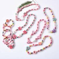 Beads Necklace Girls Jewelry Floral-shaped Hot Children Accessories Kids cartoon