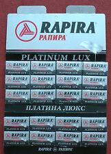 RAPIRA 100 Platinum Lux Double Edge Razor Blades 20 packets of 5 for shaving