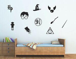 Harry Potter Logos Wall Vinyl Sticker Pack - Childrens Bedroom Decal Boys/Girls
