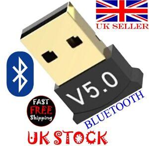 Mini USB Wireless Bluetooth Adapter Dongle V5.0 For Laptop/PC Windows 7/8/10 UK