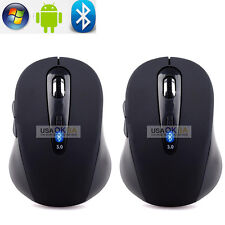 2x Wireless Bluetooth Optical Mouse Gaming Mice 1600 DPI for Windows 10 Macbook