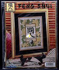 Lot of 3 Feng Shui counted cross stitch kits: Balance/Prosperity/Wisdom -NIP