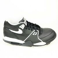 Nike Air Flight 89 GS  Youth Size 6.5Y Black White Leather Sneakers CT1570-001