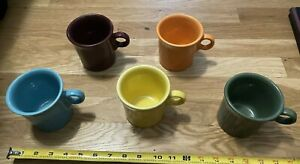 Lot Of 5 Colorful Coffee Mugs HLC Fiesta