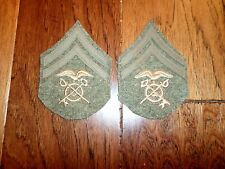 U.S MILITARY WWI CORPORAL PATCHES QUARTERMASTER 1 PAIR 2 PATCHES