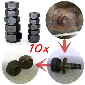 10x Damaged Hex Nuts Socket Stud Extractor Metric Broken Bolt Remover Tool Auto