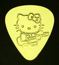 HELLO KITTY GUITAR - Solid Brass Guitar Pick, Acoustic, Electric, Bass