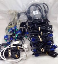 Monitor Cable Lot of 29 Mixed Styles VGA Male to Male Female KVM PS2 Dvi D to DP