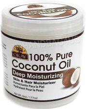 Okay 100% Pure Coconut Oil, Deep Moisturizing 6 oz
