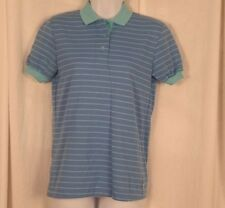 LEE Shirt Blue Striped Short Sleeve MADE in USA Women's Junior's Small NEW