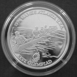 Romania 100 lei Silver Proof 1996 Atlanta Olympics Rowing