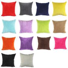 Luxury Plain Soft Crush Velvet Cushion Covers Modern Pillow Case Home Sofa QM