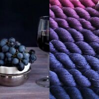 GRADIENT YARN handdyed cashmere silk yarn 200g- hand painted ombre, shawls
