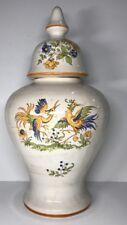 Grande Potiche Céramique Porcelaine Décor Moustiers H 32,5 D 18 Cm Voir Photos