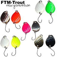 10 FTM Bilg Spoons - 1,7g Forellenblinker, Forellenköder Set, Spoon Blinker