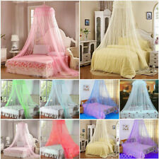 Dome Elegant Lace Mosquito Net Round Bed Canopy Netting Fly Insect Protection