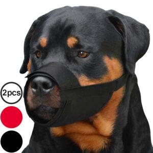 Adjustable Dog Muzzle Rottweiler Saint Bernard Nylon Pet Muzzles Set 2PCS