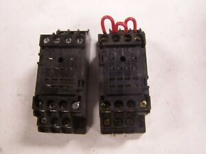 2) NEW OMRON PYF14A-E RELAY BASE 14 BLADE 5 AMP 250 VAC LOT OF 2