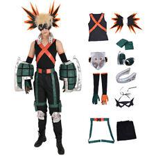 Katsuki Bakugo Kacchan Cosplay Costume Fullset Hero Suit + Gauntlets