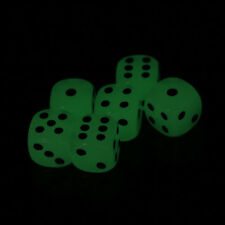 6Pcs 16Mm Luminous Dice Rounded Corner Drinking Glowing Dice Entertainment Dice-